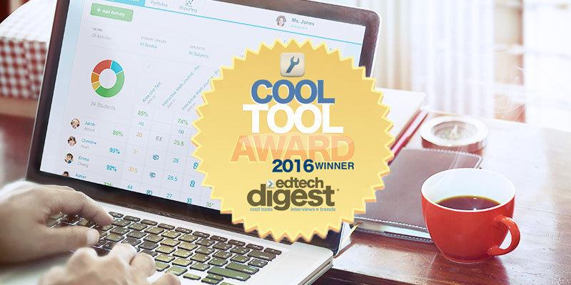 FreshGrade Product awarded with Edtech Digest Cool Tool Award 2016